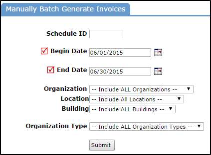 Any Schedule With Facility Use Fees That Meets Your Filtered Criteria Will  Then Have An Invoice Created For It. If There Are Multiple Event Dates On A  ...  How To Type An Invoice