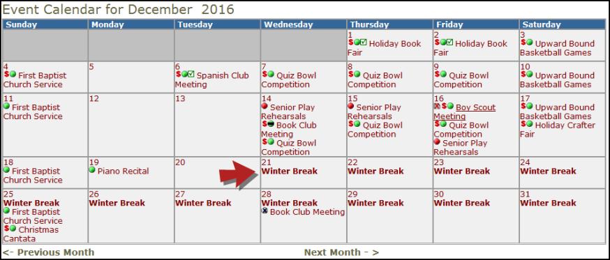 Organization Event Calendar : Organization event calendar