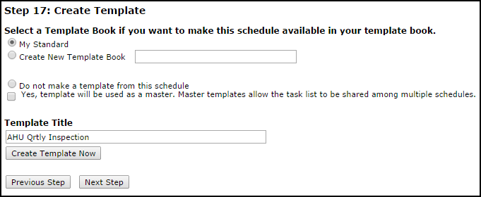 creating a pm template