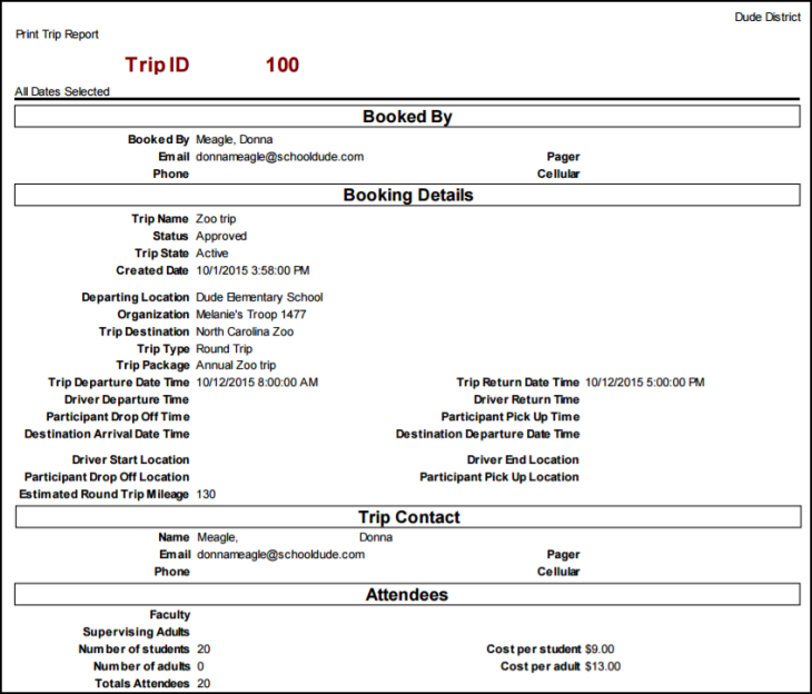 Trips Reports Can Also Be Saved And Scheduled As Action To Use This Feature Type A Report Title In Step 16 Click Save Print